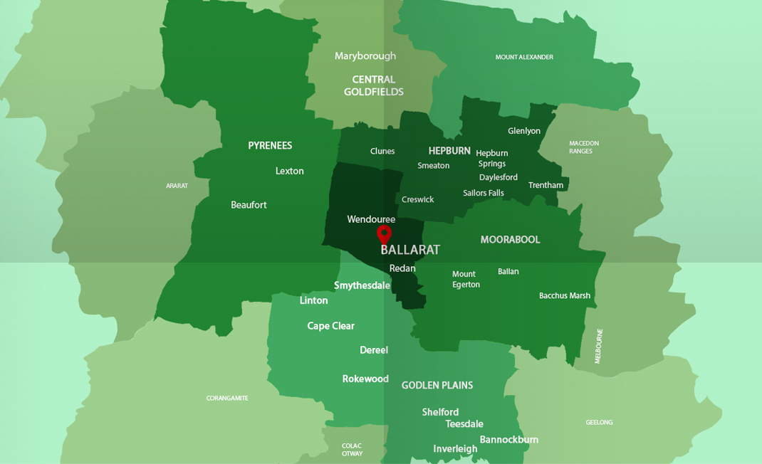 Asbestos Watch Ballarat - location map